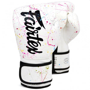 Fairtex BGV14PT The Painter Unique Boxing Gloves - White/Black