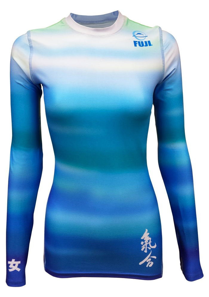 Fuji Sports Women's Haiku Rash Guard - Blue