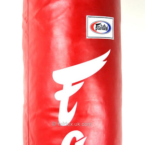 Fairtex 6ft Red Banana Kick Bag - Filled 45kg - Fightstore Pro