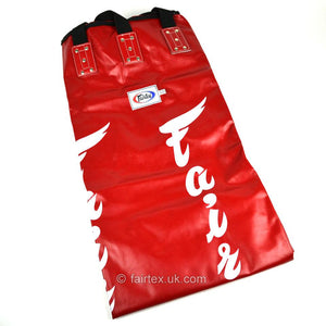 Fairtex 6ft Red Banana Kick Bag - Unfilled - Fightstore Pro