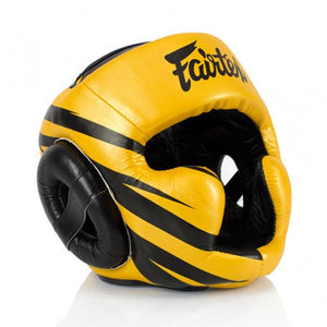 Fairtex HG16 Microfibre Headguard - Gold/Black