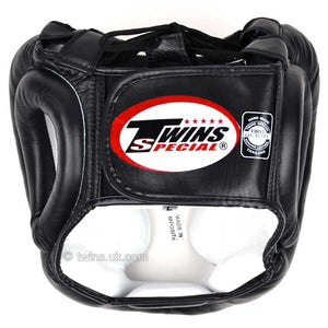 Twins Black Sparring Head Guard 1