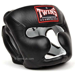 Twins Black Sparring Head Guard