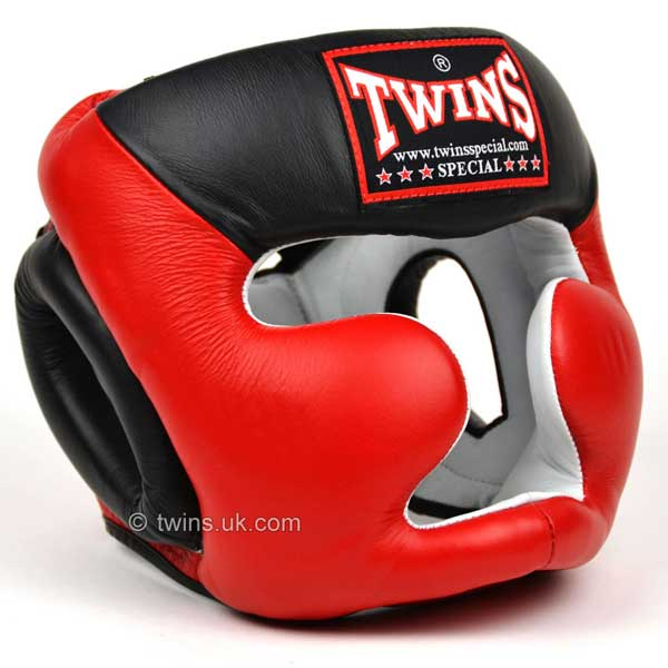 Twins Red-Black 2-Tone Sparring Head Guard