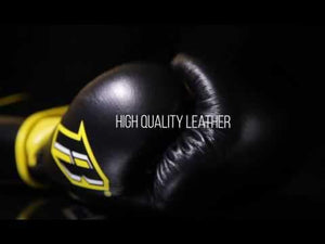 S3 Sparring Boxing Glove - Black Yellow - Fightstore Pro