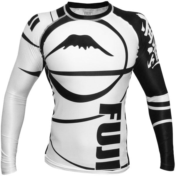 Fuji Sports Freestyle IBJJF Ranked Rashguard White Long Sleeve
