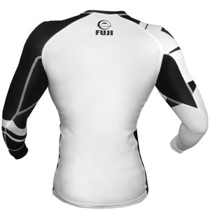 Fuji Sports Freestyle IBJJF Ranked Rashguard White Long Sleeve 1