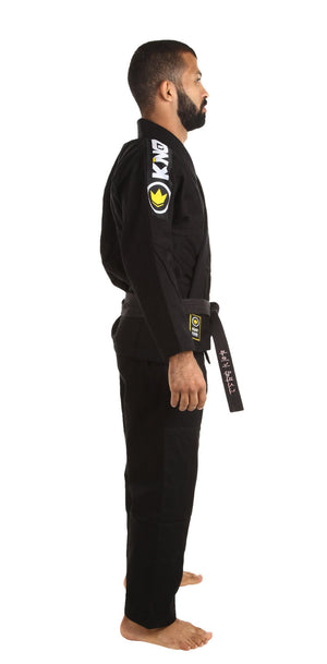 Kingz Basic 2.0 BJJ Gi with FREE white belt - Black