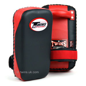 Twins KPMC-14 Small Microfibre Thai Kick Pads - Black/Red