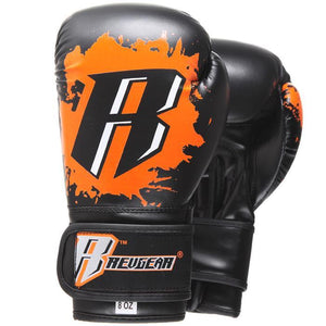 Kids Deluxe Boxing Gloves - Orange - Fightstore Pro