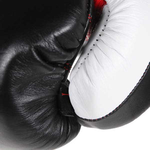 Pro Box 'PRO-SPAR' Leather Sparring Boxing Gloves - Black 2