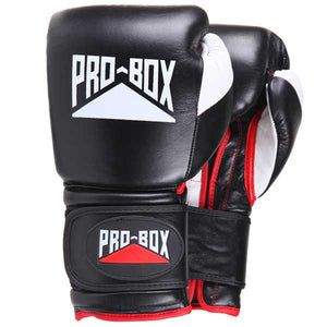 Pro Box 'PRO-SPAR' Leather Sparring Boxing Gloves - Black