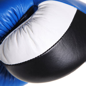 Pro Box PRO-SPAR Leather Sparring Boxing Gloves - Blue