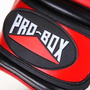 "Leather ""PRO-SPAR' Leather Sparring Boxing Gloves - RED"