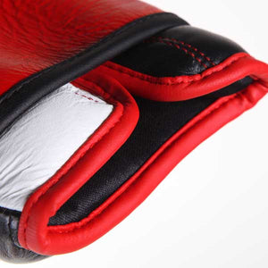 "Leather ""PRO-SPAR' Leather Sparring Boxing Gloves - RED 3"