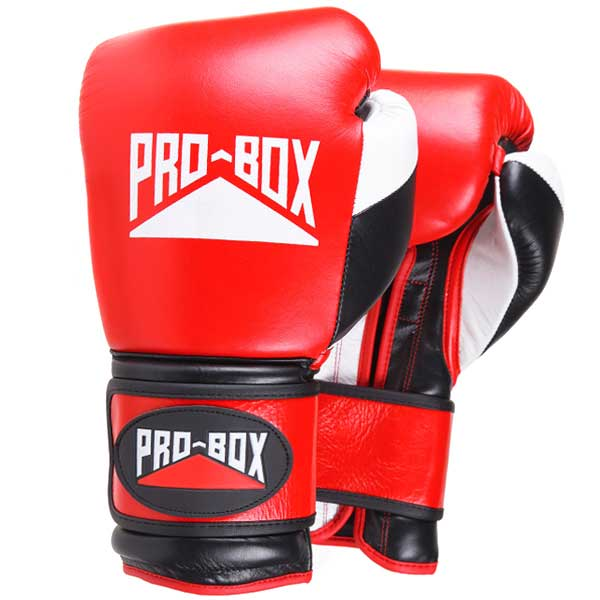 Pro Box PRO-SPAR Leather Sparring Boxing Gloves - RED