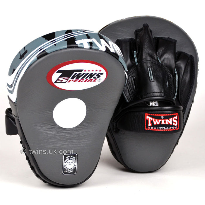 Twins PML-10 Deluxe Curved Focus Mitts Grey