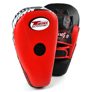 Twins PML-21 Long Curved Focus Mitts -Black/Red - Fightstore Pro