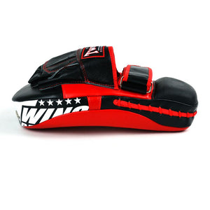 Twins PML-21 Long Curved Focus Mitts -Black/Red