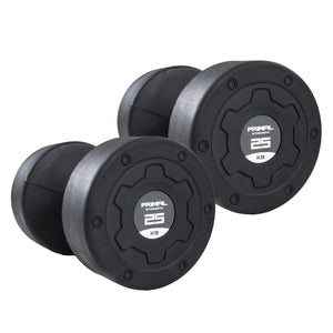 Primal Strength Stealth Commercial Fitness Premium Rubber/Stainless Steel 2.5kg-25kg Dumbbell Set (10 Pairs) - Fightstore Pro