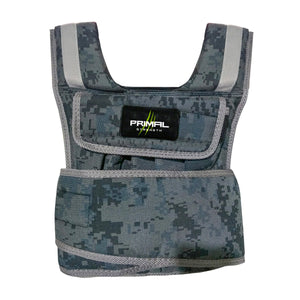 Primal Strength Commercial 20kg Camouflage Weighted Vest - Fightstore Pro