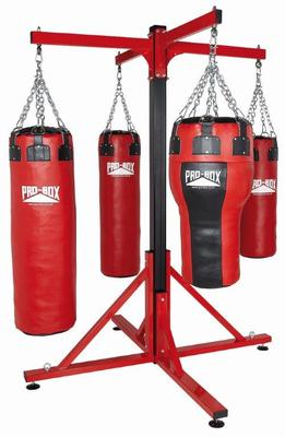 Pro Box Colossus Four Station Bag Frames - Four Punchbag Arms