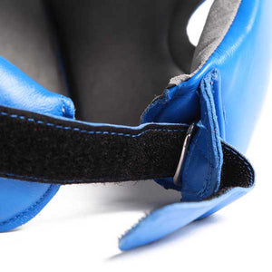 Pro Box Leather Boxing Head Guard Blue 1