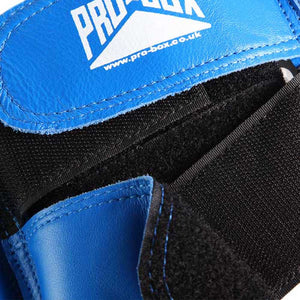 Pro Box Leather Boxing Head Guard Blue 3