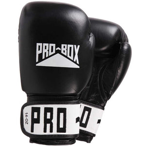 Pro Box Leather Sparring Gloves Black