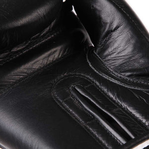 Pro Box Leather Sparring Gloves Black 2