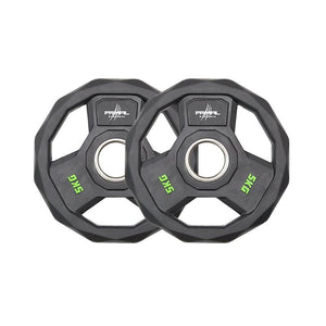 Primal Strength Stealth Commercial Fitness Premium Rubber Olympic Discs with Stainless Steel Ring (Pairs)