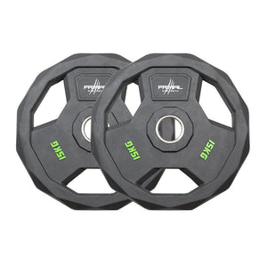 Primal Strength Stealth Commercial Fitness Premium Rubber Olympic Discs with Stainless Steel Ring (Pairs) - Fightstore Pro
