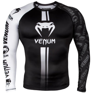 Venum Logos Long Sleeved Rashguard - Fightstore Pro