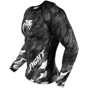 Venum Tecmo Long Sleeved Rashguard - Dark Grey