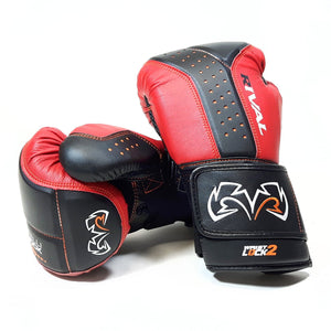 Rival RB10 Intelli-Shock Bag Gloves - Black & Red