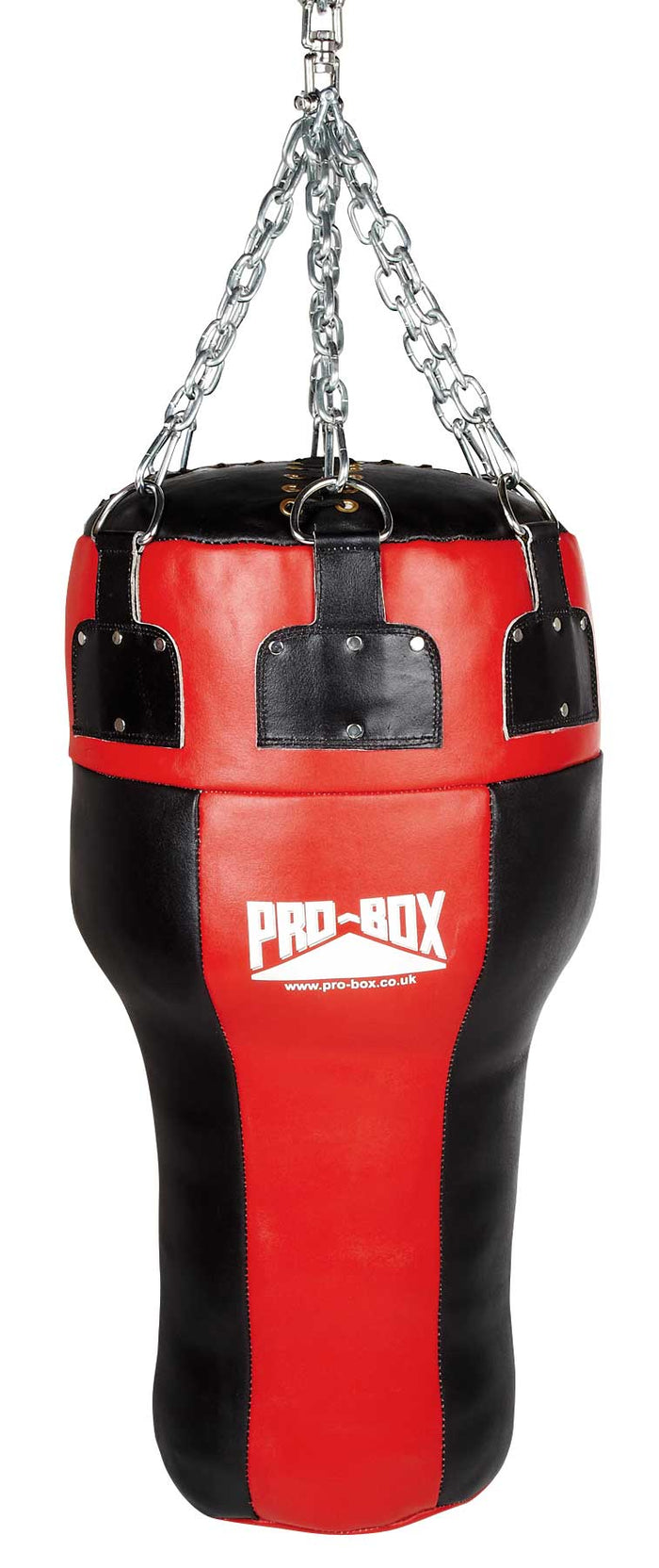 Pro Box Red Leather Uppercut Angle Bag (35kg)