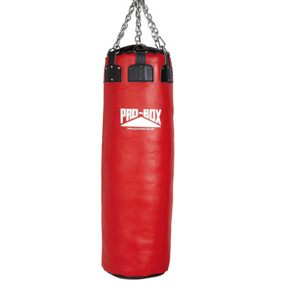 Pro Box Red Colossus Leather Punch Bag 4.5ft (60kg)