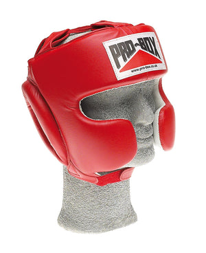 Pro Box Red Sparring Head guard - Red