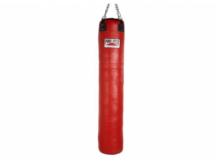 Pro Box Red Leather Punch Bag 6ft (40kg)