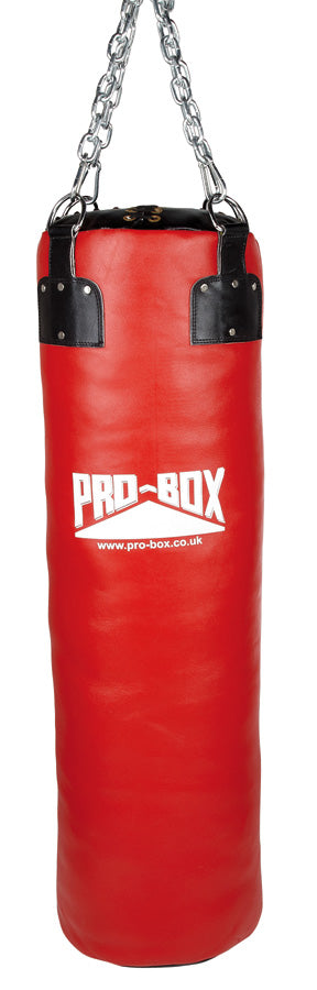 Pro Box Red Super Heavy Leather Punch Bag 4ft (40kg)
