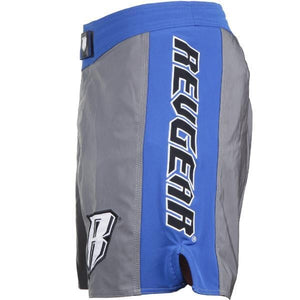 Spartan Pro Micro MMA Shorts - Grey & Blue