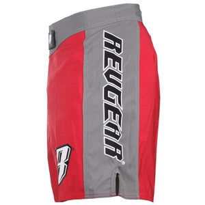 Spartan Pro Micro MMA Shorts - Red & Grey