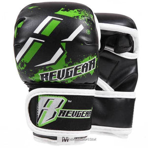 Kids Deluxe MMA Gloves - Green - Fightstore Pro