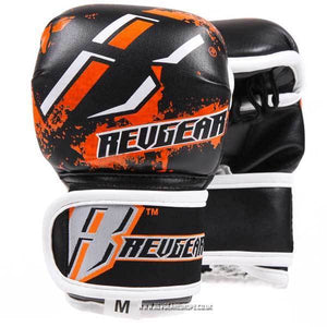 Kids Deluxe MMA Gloves - Orange - Fightstore Pro
