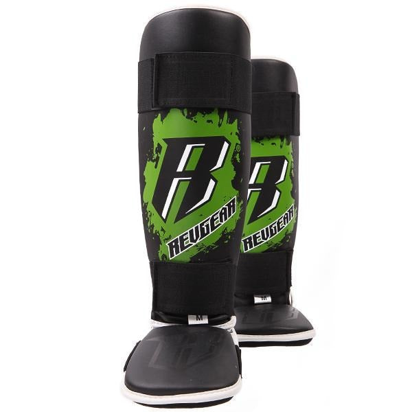 Kids Deluxe Shin Guards - Green