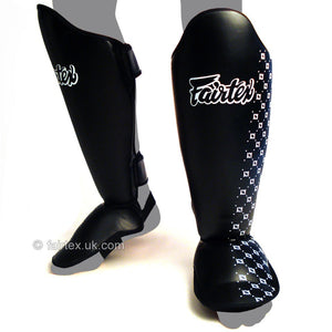 Fairtex Competition Thai Shinguards black