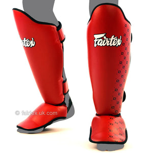 Fairtex Competition Thai Shinguards Red 4