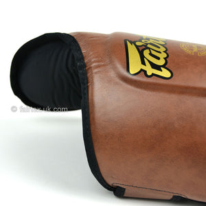 Fairtex Shin Guard SP8 Vintage Brown