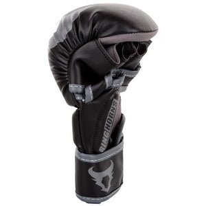 Venum Ringhorns Charger MMA Sparring Gloves - Black/White - Fightstore Pro