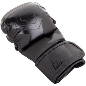 Venum Ringhorns Charger MMA Sparring Gloves - Black/Black